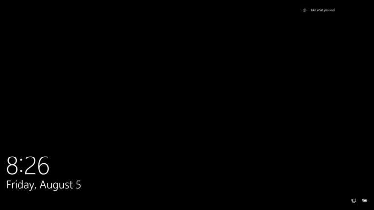 black login windows 10 anniversary update